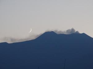 Etna at night from Riposto