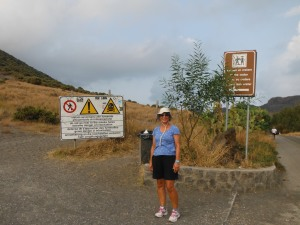 At the bottom of the volcano