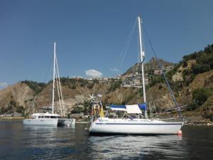 On the buoy at Taormino
