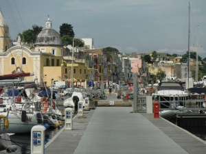 Procida town from our pontoon