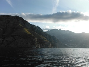 Dawn over the Amalfi peninsula