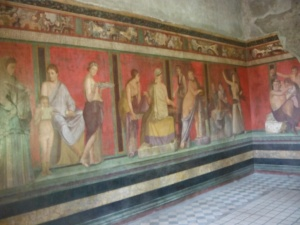 Fresco in the villa of the mysteries