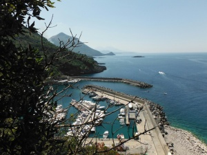 Maratea harbour from the top of the town