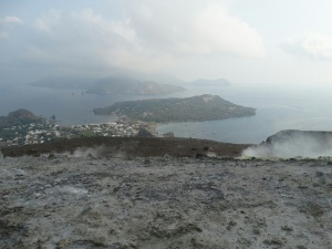 View to the anchorage, Vulcano