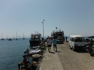 Busy day at Erikoussa pier