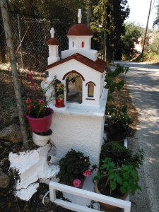 Typical wayside shrine, Corfu