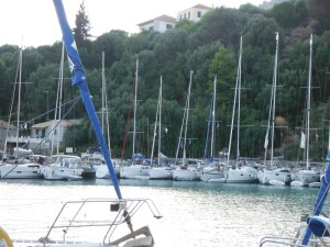 Busy harbour, Port Kalamos